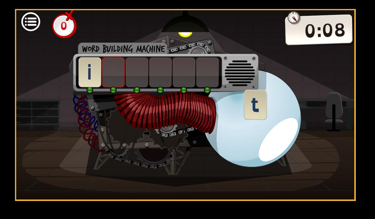 Buchstabiermaschine – Wörter bilden