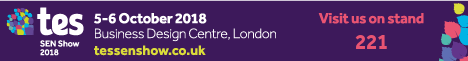 Visit us at the Tes SEN Show in London, the largest, most-established special education needs show in the UK, taking place on October 5th and 6th, 2018, on stand #221.